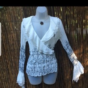 NEW White Poets Blouse Top